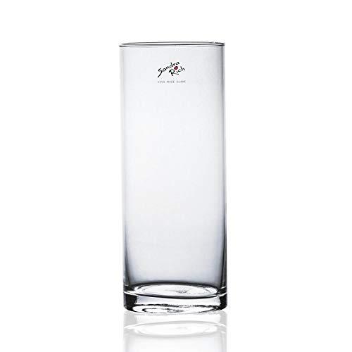 Sandra Rich Glasvase, Dekoglas CYLI zylindrisch rund H. 25cm D. 10cm Glas