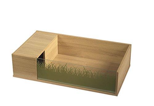 Vivexotic - Mesa de tortuga, 90 x 45 x 21 cm