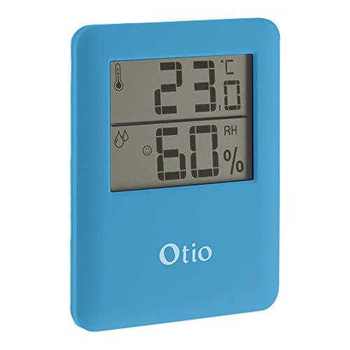 Thermomètre/Hygromètre intérieur magnétique - Bleu - Otio