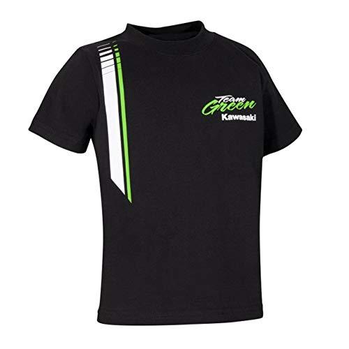 Kawasaki Team Green T-Shirt Kids Kurzarm Kinder T-Shirt ! schwarz grün weiß (44/56)
