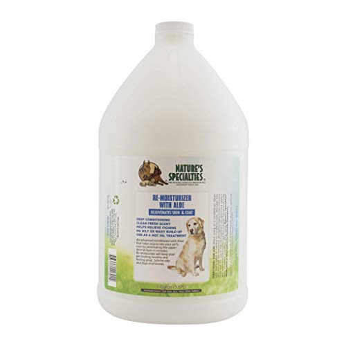 Nature's Specialties Moisturizing Dog Conditioner for Pets, Ready to Use, Made in USA, Aloe Remoisturizer, 1gal