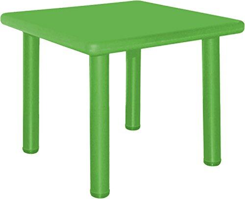 Bieco 04000033 – kindertafel groen, ca. 62 x 62 x 62 cm.