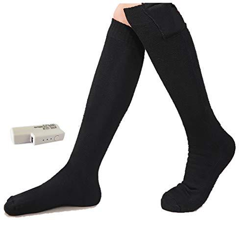 Mars Jun Elektrische sokken voor mannen en vrouwen, op batterijen werkende sokken, warmer voor motorfiets, fietsen, motorrijden, skiën, kamperen, wandelen