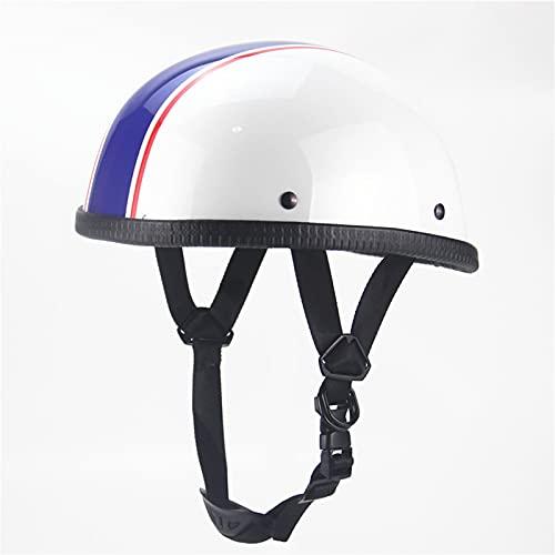 Motorcycle Half Helmet Beanie Semi-Motorcycle Helmet Men and Women Skull Cap DOT/ECE Safety Standard Bicycle Scooter ATV UTV Skateboard Helmet,M