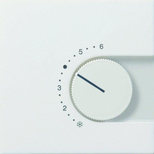 Gira 1496112 Abdeckung Raumtemperatur-Regler Wechsler Flächenschalter, reinweiß