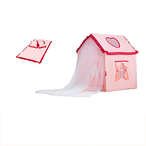 Tents Chambre d'enfant Maison, de lit d'enfant Sécurité intérieure Mobile Maison/avec Mat / 0-12 Ans Peut être utilisé (Color : Pink)