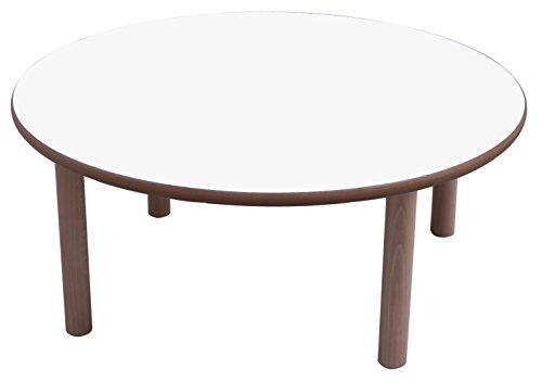 Mobeduc Mesa Infantil Redonda diam, Blanco, diámetro de 80 cm, Talla 0