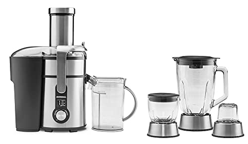 GASTROBACK #40152 Design Multi Juicer Digital Plus - Licuadora centrífuga (4 en 1: licuadora centrífuga, picadora y molinillo de café, 1300 W, 5 niveles)