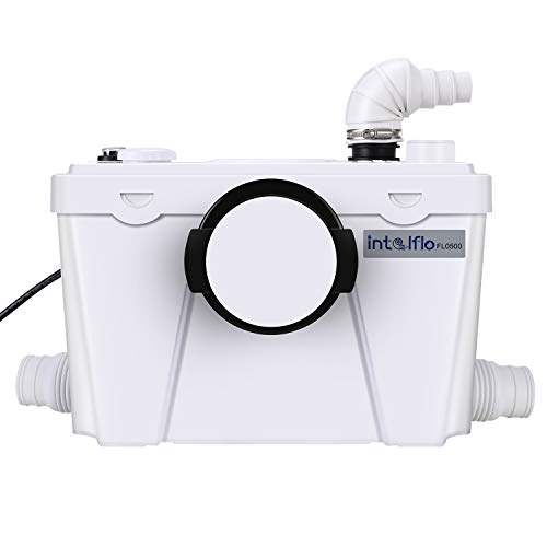 500 Watt Upflush Toilet System Macerator Pump, with 4 Water Inlets for Kitchen Sink Bathroom Toilet Waste Water Disposal Pump, Automatic Start Stop, AC 110V High Power Saving Function