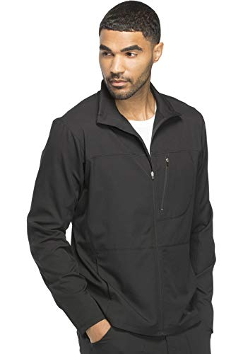 Dickies Dynamix Men's Men's Zip Front Warm-up Jacket, DK310, L, Black