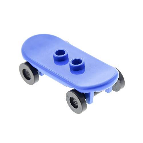1 x Lego System Skateboard blau Räder schwarz Figuren Zubehör 42511 2496 88422c01 42511c01