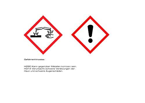 profitol® Abflussreiniger 1000 ml inkl. MESSBECHER, chlorfrei, wirkt sofort I Hochkonzentriert gegen hartnäckigste Verschmutzungen und Gerüche, Abfluss-Frei mit nur 200 ml pro Anwendung, Rohrreiniger - 7
