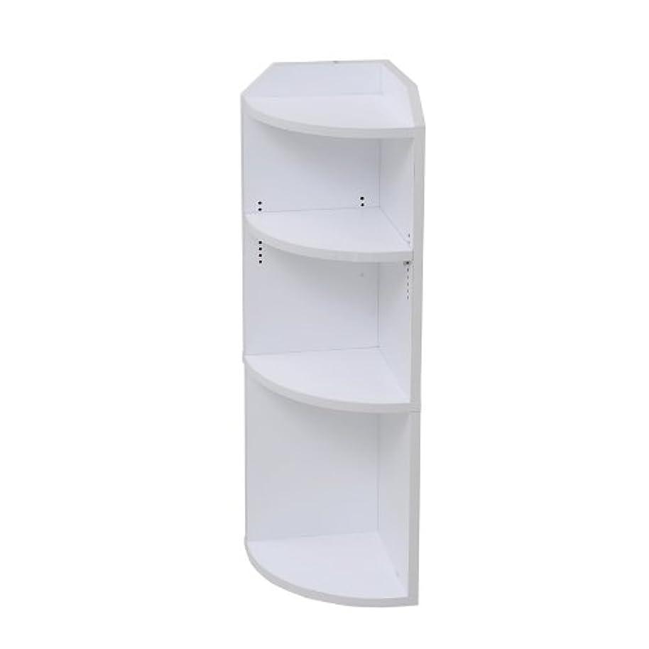 外観ハックリテラシーJKプラン 薄型カウンター 下収納 カウンター 有効 活用 コーナー ラック 幅 22 ホワイト YHK-0207-WH