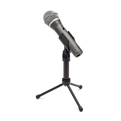 Samson Technologies Q2U USB/XLR Dynamic Microphone Recording and Podcasting Pack (Includes Mic Clip, Desktop Stand, Windscreen and Cables), silver