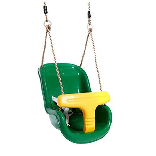 Wtbew-u Buitenschommel voor kinderen, hangstoel voor draagbare schommel met rugleuning en verstelbaar schudden om te spelen