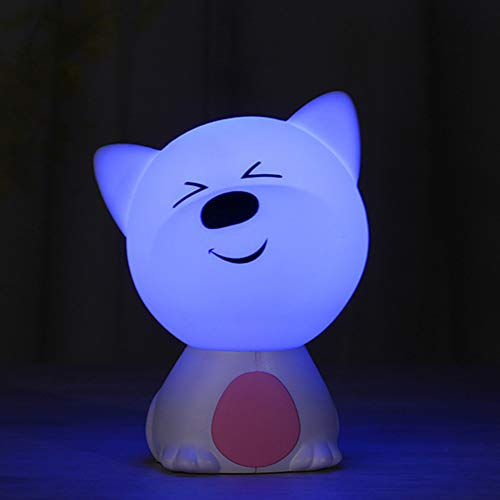 XHSHLID LED Touch Night Light Leuke kleur van de hond luieronderlegger tafel decoratie voor slaapkamer kinderen mini LED-lamp Bulbedside USB Dog Lights