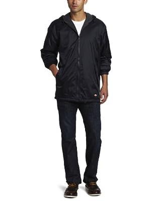 Dickies Men's Fleece Lined Hooded Jacket, Dark Navy, 3XL