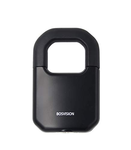 Bosvision Keyed Padlock, Finnish Cylinder, Thick Shackle (0.45 inche, 11.6mm), 2 Disc Keys