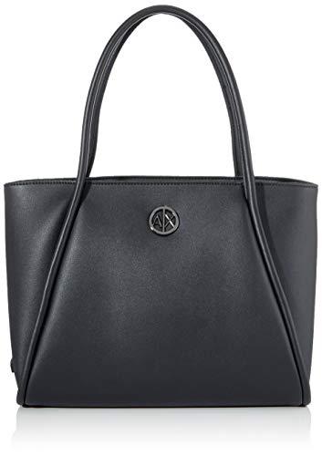 ARMANI EXCHANGE Small Shopping Bag - Borse Tote Donna, Nero (Black), 10x10x10 cm (W x H L)