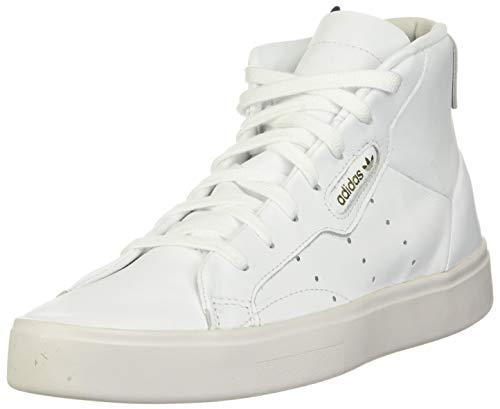 adidas Originals Damen Sleek Mid Leder Schuhe, Wei (FTWR Weiß/FTWR Weiß/Kristall Weiß), 37.5 EU