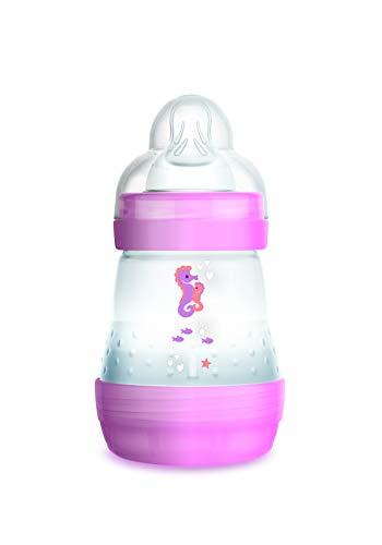 Mam - Biberon anti coliche, 160 ml, 0 - 6 mesi, flusso tipo 1, colore: Rosa – Istruzioni in lingua straniera