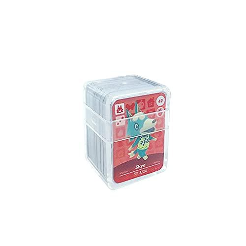 24 pièces Cartes de jeu NFC Tag pour Animal Crossing, (n ° 49-n ° 72). Cartes de cartes Botw avec manchon en cristal compatibles avec Nintendo Switch / Wii U
