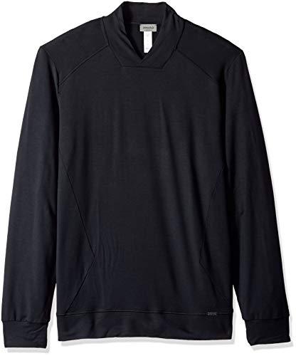 Hanro Herren Living Relax Pullover Pyjama-Oberteil (Top), schwarz, Small