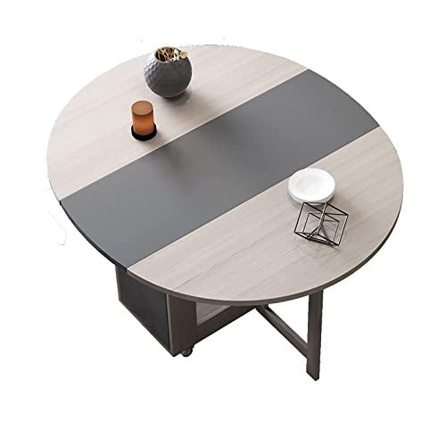 Conjunto de mesa de comedor plegable móvil,mesa de comedor nórdicos multifuncional y combinación de sillas,mesa de cocina de hojas de caída con borde redondo,diseño extensible,ahorro de espacio versát
