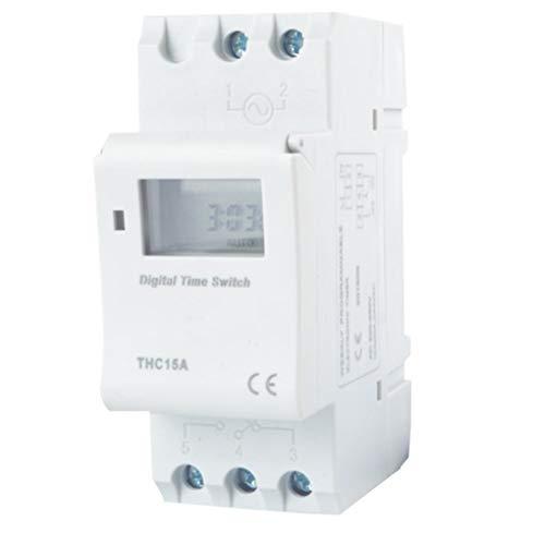 Hotaluyt 7.5VA Digital LCD Disply Power Rail de Montaje del Interruptor electrónico programable semanal Tiempo del Temporizador