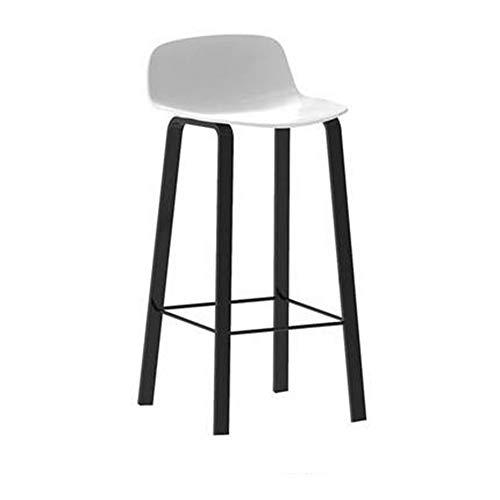 CCLC stoelen, voor stoelen, barstoelen, smeedijzer, vrijetijdsstoel, barkruk, zadelleuning, zwarte legging, wit, 75 cm