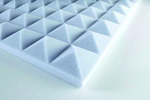 Pyramidenschaum Basotect®  selbstklebend - hellgrau 120x60x3 cm - 0,72 m2