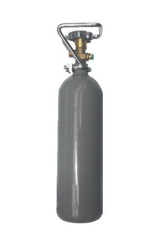 2 kg Kohlensäure Flasche für Aquarium 2 kg CO2 Flasche/Gasflasche gefüllt mit Kohlensäure (CO2) / Lebensmittelqualität nach E290 / NEUE Eigentumsflasche/10 Jahre TÜV ab Herstelldatum/Made in Germany