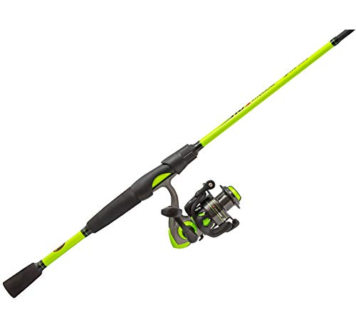Lews Fishing, Hypersonic Speed Spin Spinning Combo, 5.1:1 Gear Ratio, 4 Bearings, 6'6' Length 2pc, Medium Power, Ambidextrous