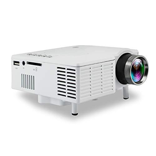AWJK Proyector WiFi, Proyector Portátil, 2000 Lúmenes, Soporta 1080p Full HD, Cine en Casa 60' Duplicar Pantalla para Smartphone iPad,HDMI/USB/VGA/AV/SD,Blanco