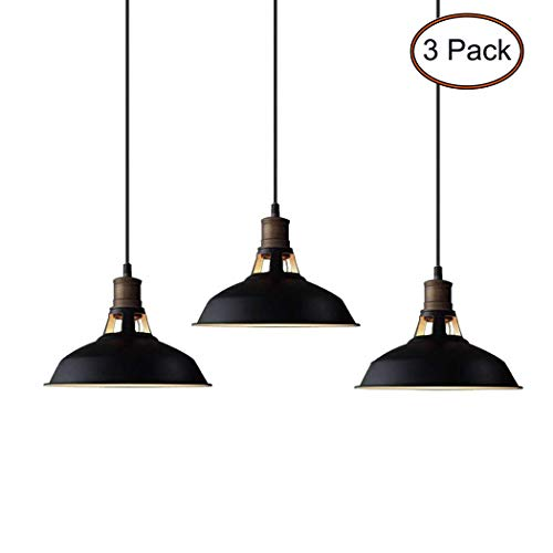 CLAXY Ecopower Industrial Metal Barn Pendant Light 3 Pack