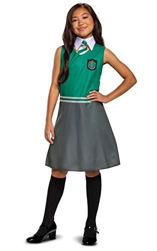 Harry Potter Slytherin Dress Classic Girls Costume, Green & Gray, Kids Size Large (10-12)