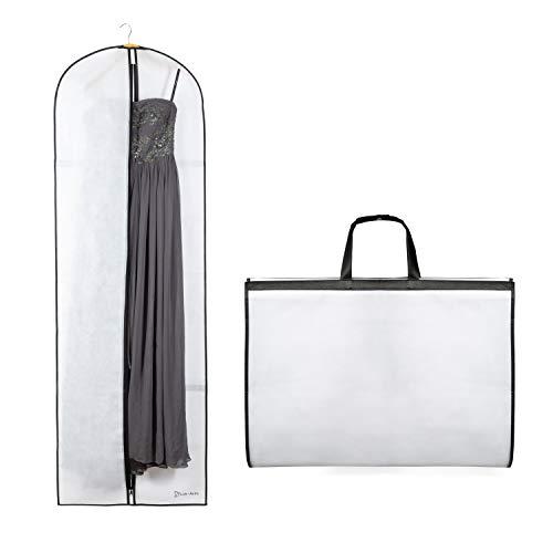 Luk-Aves® Atmungsaktiver Kleidersack 180 cm für Brautkleider, Abendkleider oder Lange Mäntel