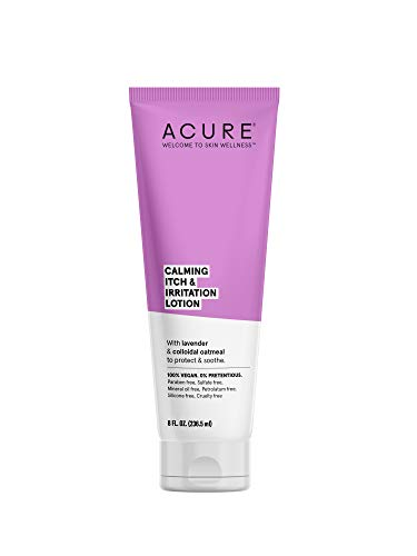 ACURE Calming Itch & Irritation Lotion   100% Vegan   Lavender, Colloidal Oatmeal, Cocoa & Shea Butter - Protects, Soothes & Hydrates   8 Fl Oz