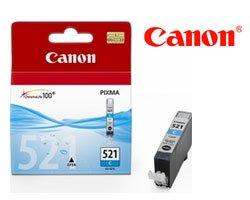Original bläckpatron Canon CLI-521 cyan för 505 sidor, OEM: 2934B001, för Canon-modeller och liknande Pixma MX 870, 860, IP 4600, 3600, MP 980