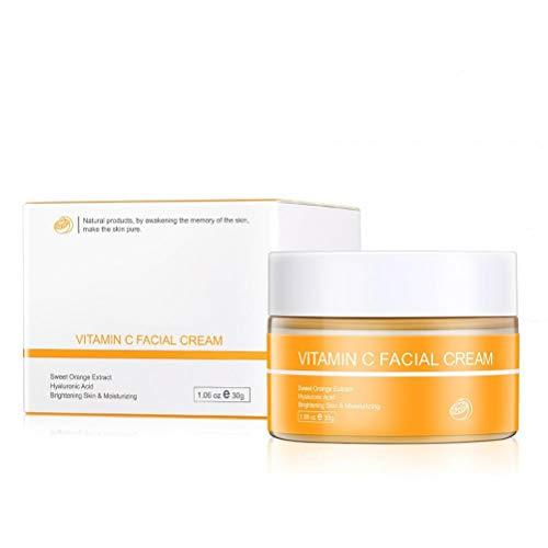 Haplws Crema aclaradora, Crema Facial blanqueadora con Vitamina C Crema Facial Frecken Creme C-Creme para Todo Tipo de Pieles