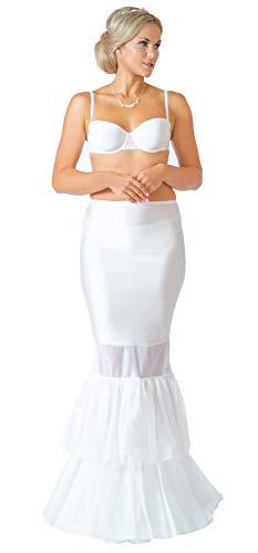 Mermaid Reifrock Neu 1 Ring 1 Reifen Fishtail Ivory Creme 190 cm Umfang Meerjungfrau Brautkleid Unterrock Petticoat (XS)
