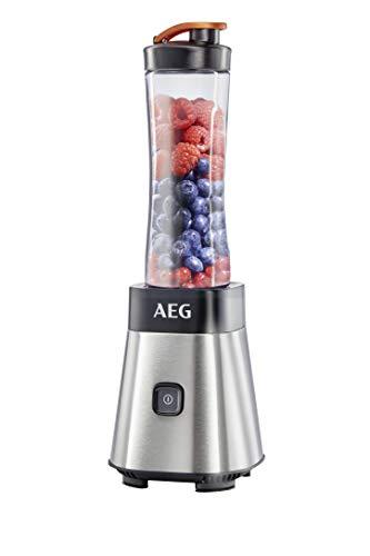 AEG SB2400 Batidora de vaso Good to go, acero inoxidable, 300W, apta para lavavajillas, 1 botellas de 0,6 L