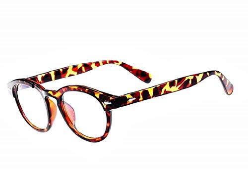 KIRALOVE Johnny depp brille für männer - frauen - mode - klare gläser - ohne abschluss - retro - maskottchen - leopard - film - fernsehen