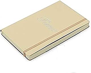 Durable Notebook Portable Notebook Leather Surface A5 Business Notebook Portable Stationery Simple Thickening Color Student Travel Notebook Office (Color : Meter white notebook, Size : A5 notebook)