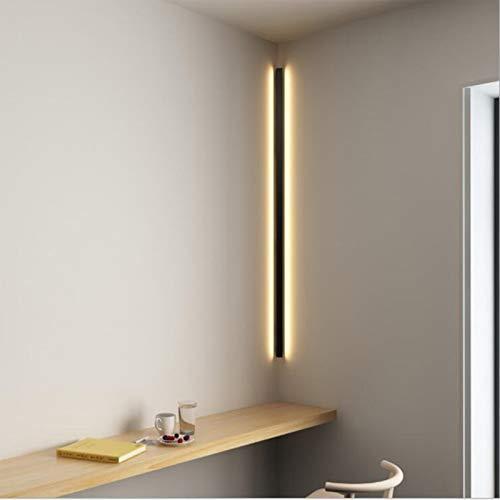 AXFALO Moderne LED Wandleuchte Innen Minimalistische Eck 24W Wandlampen Schwarz Innenleuchte für Flur Treppe Nachttisch Schlafzimmer Metall Wandleuchter Dekoration, Aluminium, 100cm (100cm/24W)