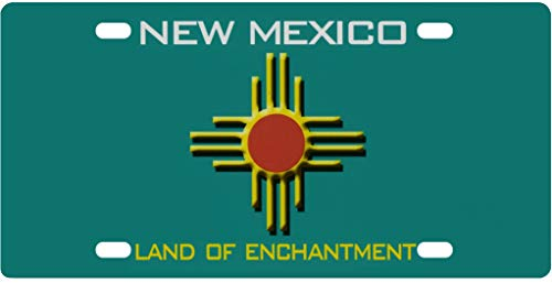 NETHNDBWEV Placa de Licencia Personalizada para la Parte Delantera del Coche – Azul Personalizado México EE. UU. Cubierta de Placa de Licencia para Auto Coche Bicicleta Motocicleta Moped Tag