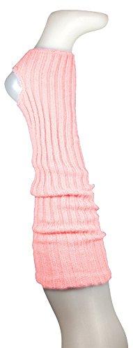 AVIDESO Stulpen Damen Wadenlang 55cm + Fersenloch Rosa- Beinlinge Strick Weich Legwarmer Tanzstulpen Mädchen Beinstulpen