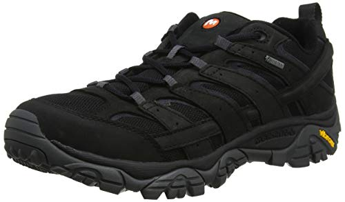 Merrell Men Moab 2 Smooth GTX Low Rise Hiking Boots Black Black 7 UK