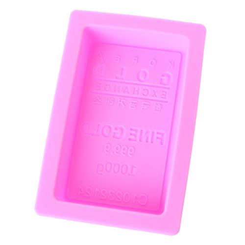 S-TROUBLE Stampo per Torta in Silicone con Stampo in Mattoni d\'oro, Stampo per Sapone a Forma di lingotti di Fabbricazione Artigianale