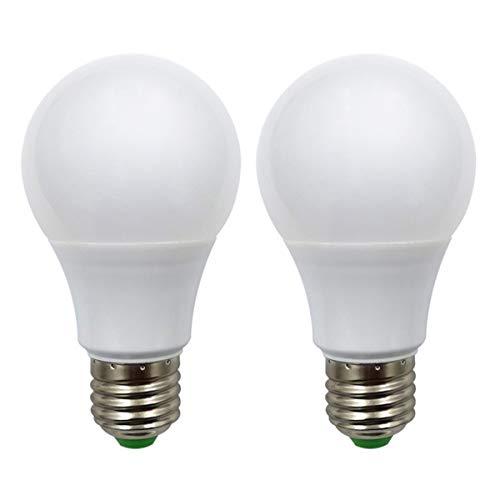 E27 Led Glühbirne 12V AC/DC 5W (A60 50W Halogen Birnen) Niederspannung Edison Screw in Glühbirnen Warmweiß für Off Grid Solar Beleuchtung RV Boot Innenbeleuchtung, 2er Pack [MEHRWEG]